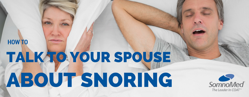 how to talk to partner about snoring